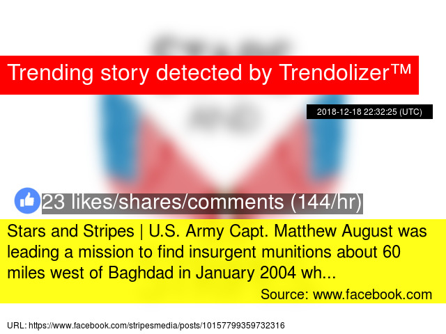 Stars and Stripes | U S  Army Capt  Matthew August was