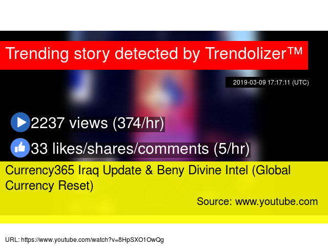 Currency365 Iraq Update & Beny Divine Intel (Global Currency