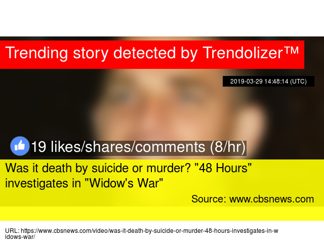 """Was it death by suicide or murder? """""""