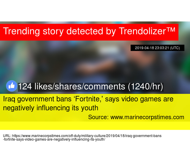 Iraq government bans 'Fortnite,' says video games are