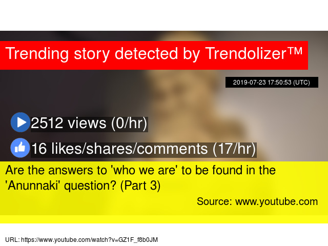 Are the answers to 'who we are' to be found in the 'Anunnaki