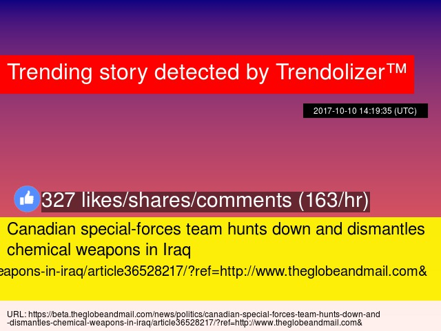 Canadian special-forces team hunts down and dismantles